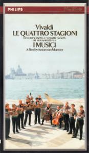 1989年9月収録のイ・ムジチ合奏団「四季」 ソロはフェデリコ・アゴスティーニ(VHSテープ)